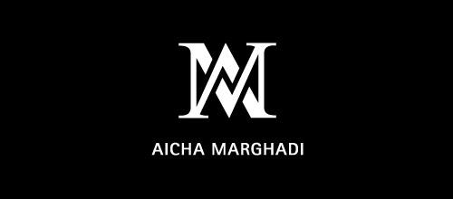 aicha amrghadi logo design