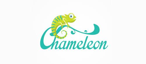 chameleon green logo design