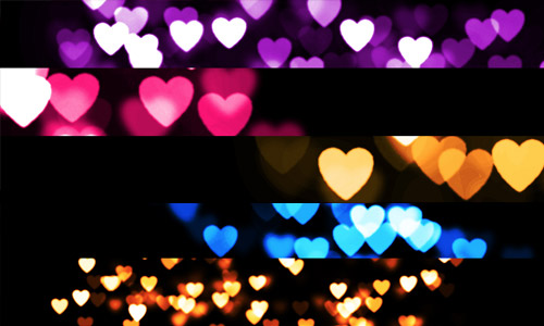 cool heart bokeh textures free