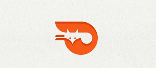 orange fox logo design