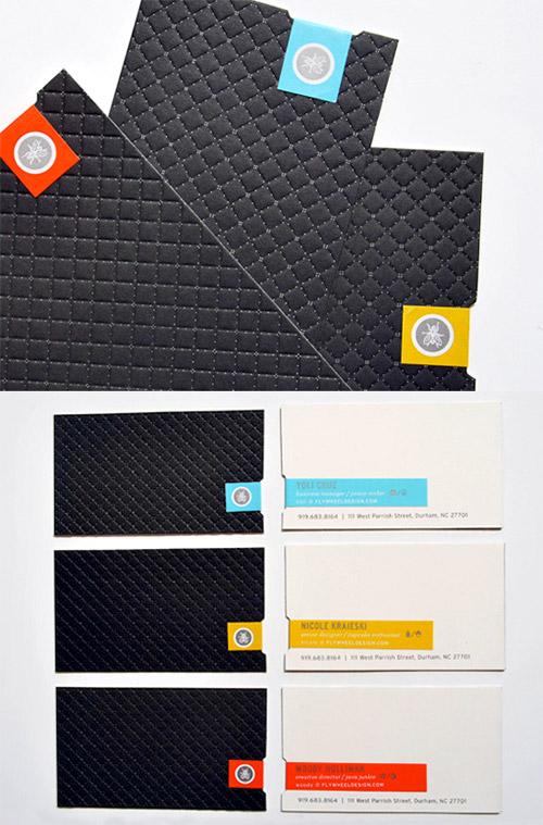 textured letterpress business card