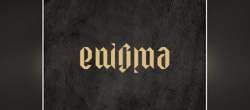 enigma ambigram logo design