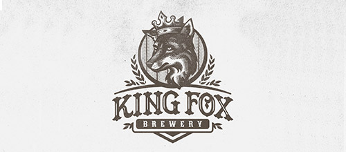 king fox brewery logo design