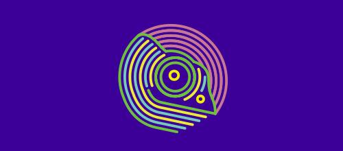outline chameleon logo design