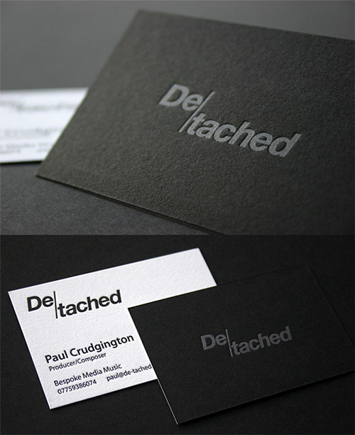 de-tached blind press business card