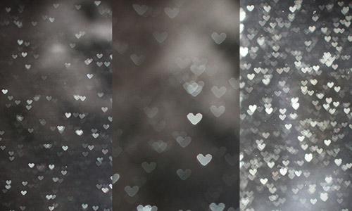 free heart bokeh textures silver