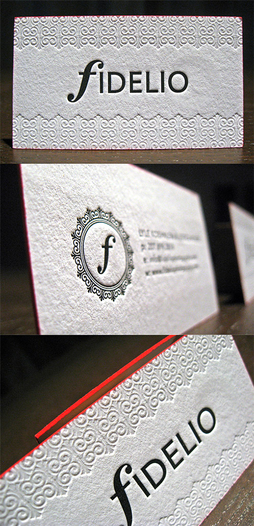 wedding textured business card