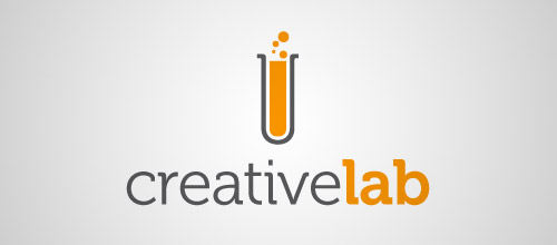 creative lab tube logo design