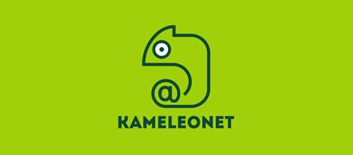 kameleonet chameleon logo design