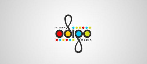 odigo ambigram logo design