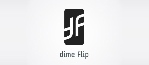 df ambigram logo design
