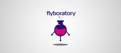flyboratory tube logo design