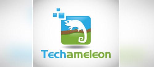techameleon chameleon logo design