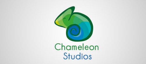 chameleon studio logo design