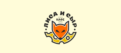 fox cheese logo design