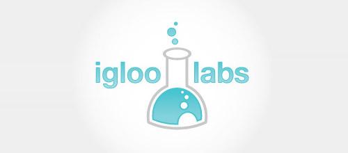 igloo labs tube logo design