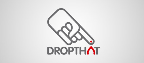 dropthat tube logo design