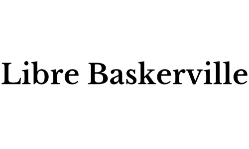 libre Baskerville free bold fonts