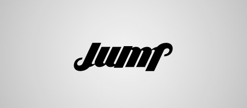 jump ambigram logo design