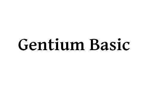 gentium basic free bold fonts