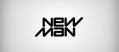 new man logo ambigram design