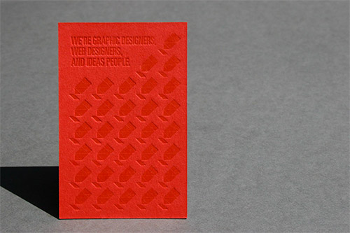 genius blind deboss business card