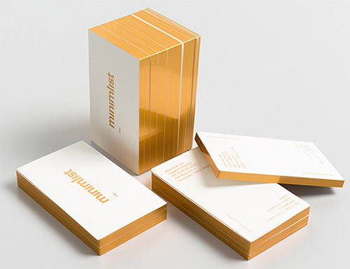 A collection of elegant business cards with gold designs naldz minimalist gold edge business card colourmoves
