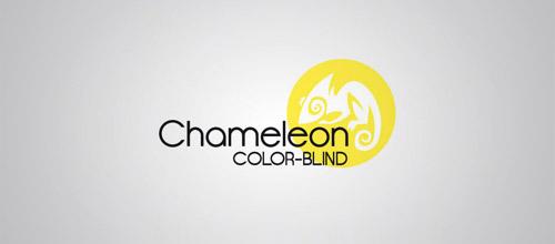 yellow chameleon logo design