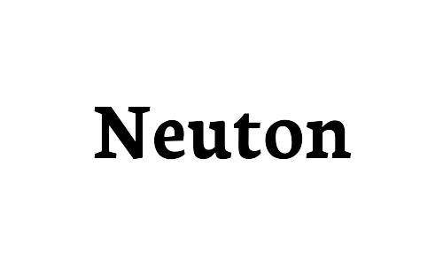 neuton free bold fonts