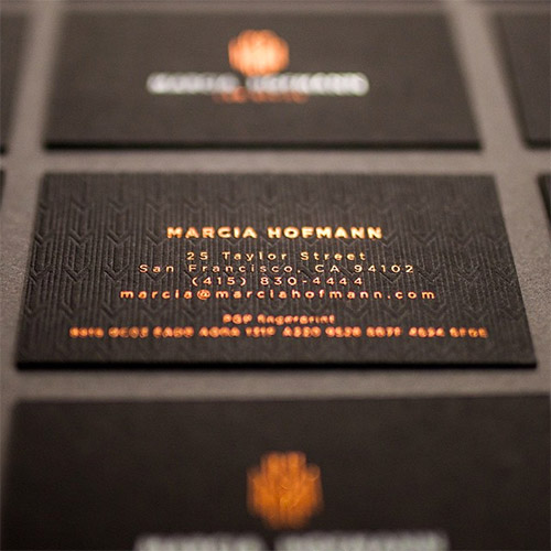 clovestpress textured business card