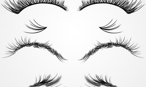eyelashes photoshop brushes free