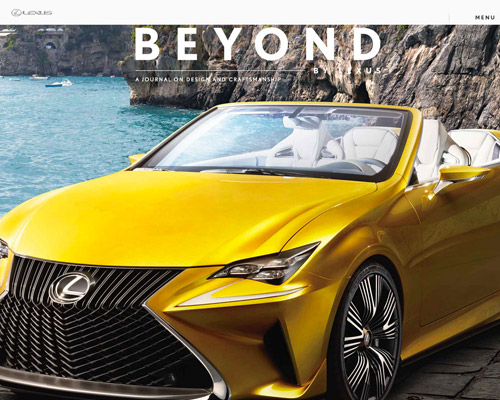 lexus car website design