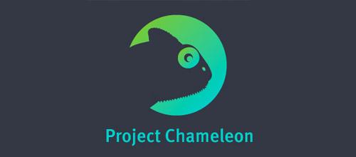 project chameleon logo design