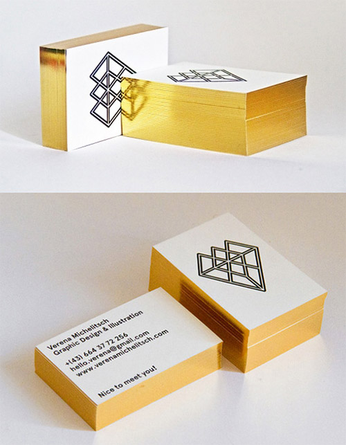 Luxury gold card