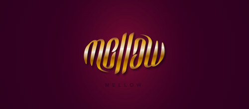 mellow ambigram logo design