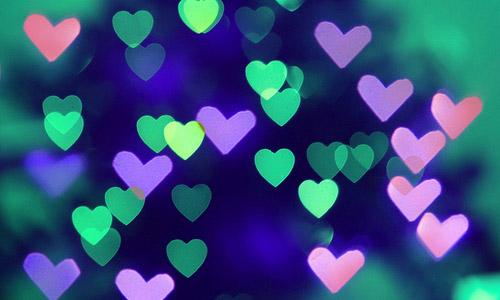 neon heart bokeh free texture