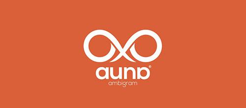 auna ambigram logo