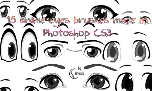 anime eye photoshop brushes