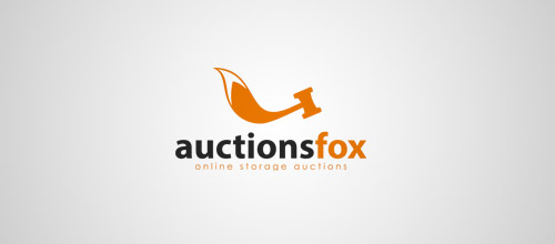 auctionsfox fox logo design