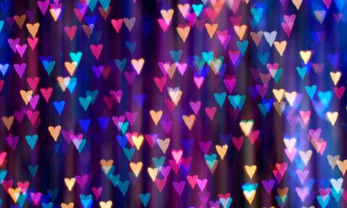 free heart bokeh texture