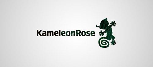 kameleon rose logo design