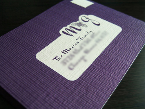 purple textured business card