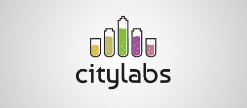 city labs tube logo design