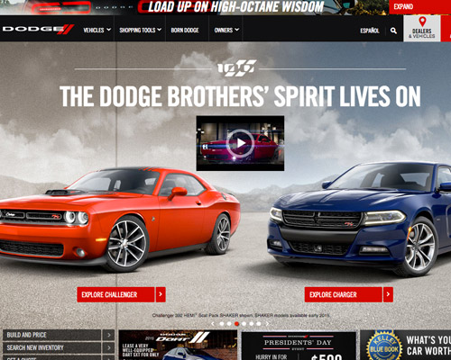 dodge automotive website design