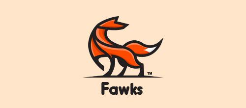 fawks fox logo design