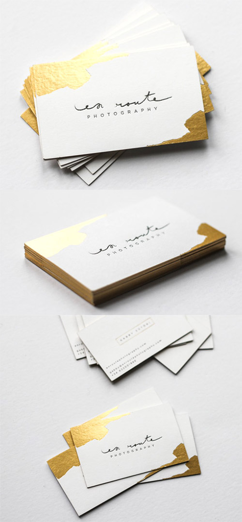 A Collection Of Elegant Business Cards With Gold Designs