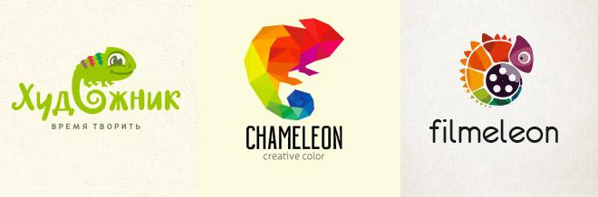 40 Adorable And Creative Chameleon Logo Design