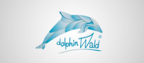 dolphin wald logo design