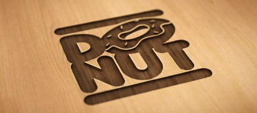 donut skateboard logo design