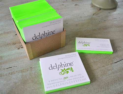 A collection of attention grabbing neon business cards naldz graphics green neon business card design reheart
